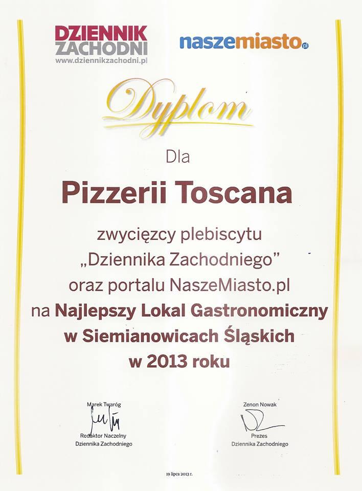 Najlepszy Lokal Gastronomiczny w Siemianowicach Śląskich w 2013 roku